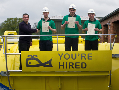 WHALE TELLS APPRENTICES – YOU'RE HIRED!