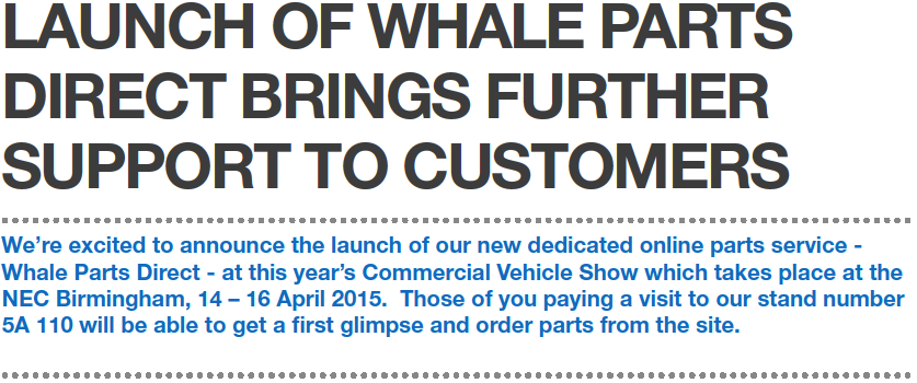 Launch Of Whale Parts