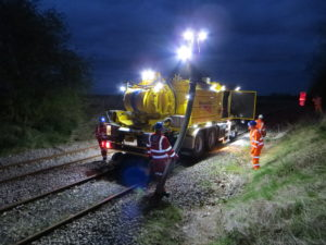Network Rail 'Whale Rail' In Action